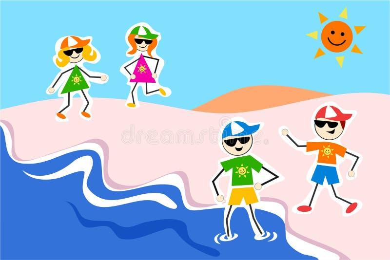 Miúdos do verão ilustração royalty free