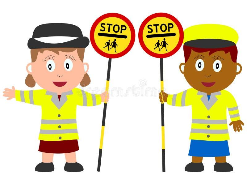 Miúdos e trabalhos - Lollipop ilustração royalty free