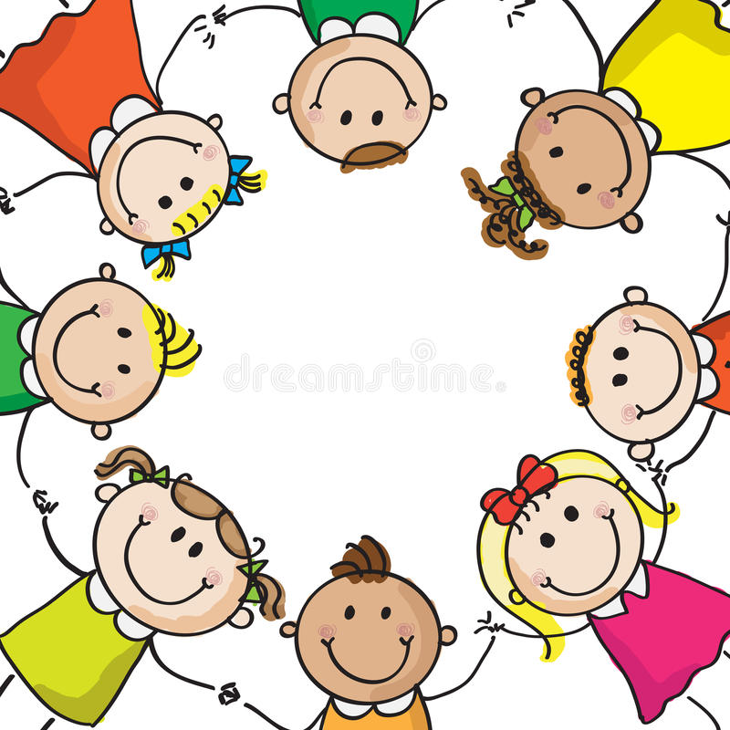 Miúdos em um círculo