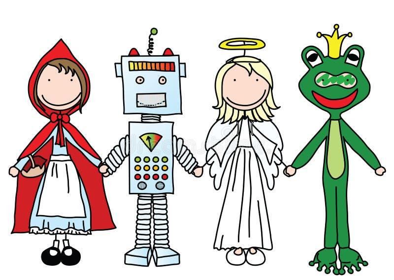 Miúdos felizes ilustração royalty free