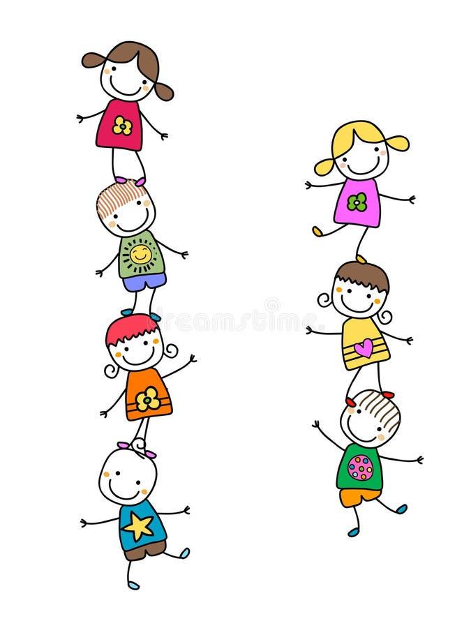 Miúdos felizes ilustração do vetor