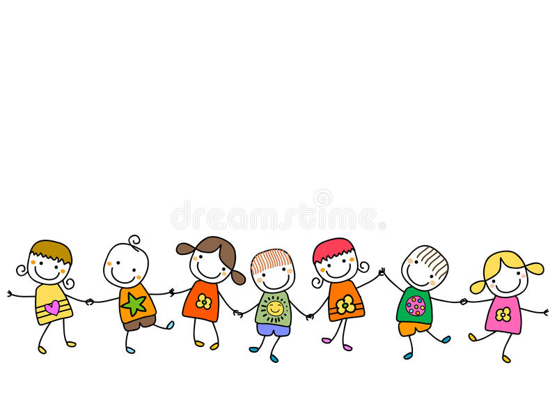Miúdos felizes ilustração stock