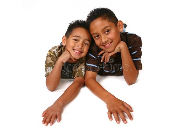 Miúdos felizes do Latino imagens de stock