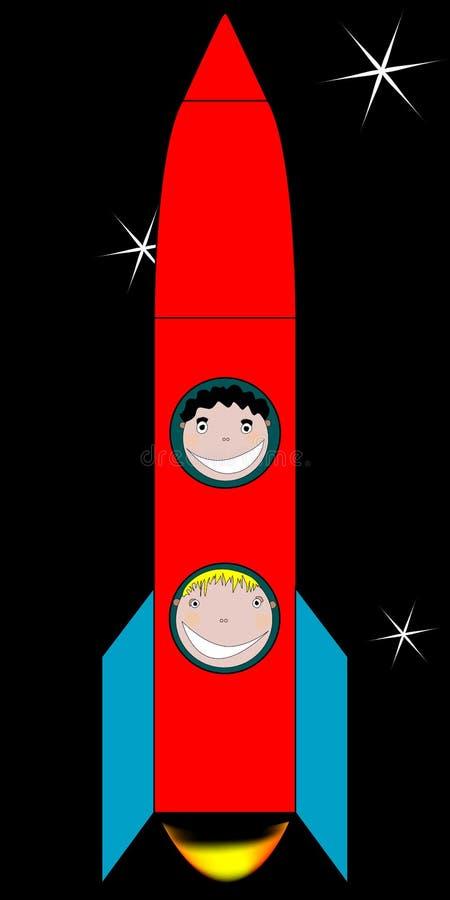 Miúdos felizes no espaço ilustração royalty free