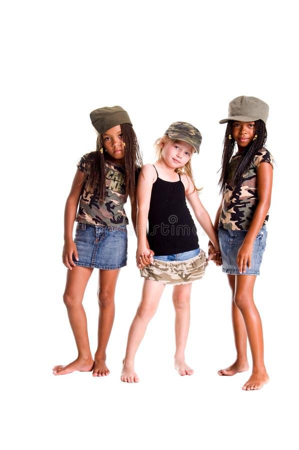 Miúdos militares para a paz foto de stock