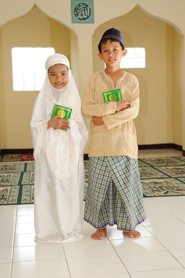 Miúdos muçulmanos fotografia de stock royalty free