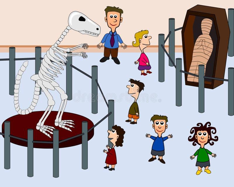 Miúdos no museu ilustração do vetor