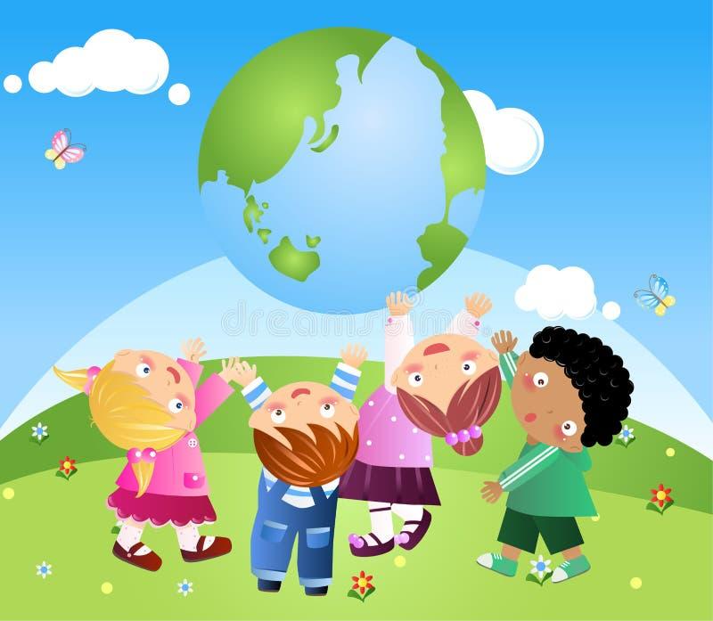 Miúdos que sustentam a terra
