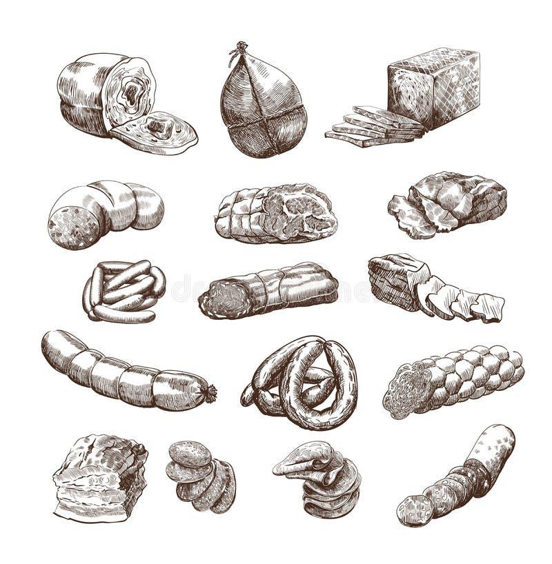 Mięśni produkty ilustracji