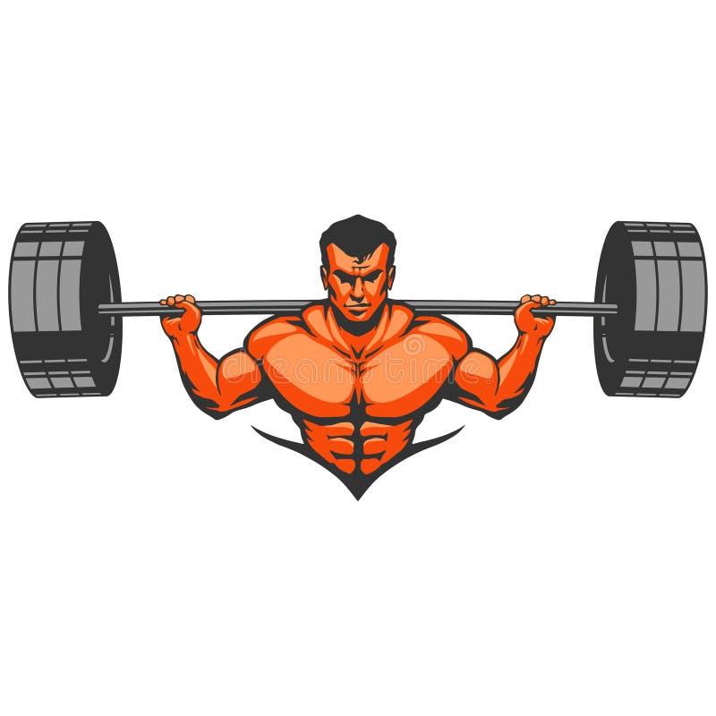 Mięśnia mężczyzna bodybuilder ilustracja wektor