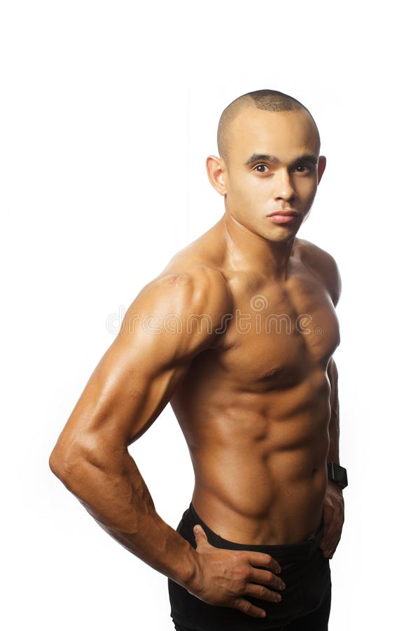 Mięśnia mężczyzna po exersises obrazy stock