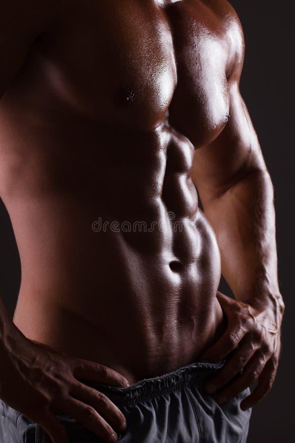Mięśniowa męska półpostać obraz stock