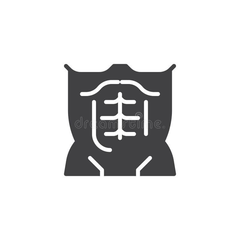 Mięśniowa męska półpostać wektoru ikona ilustracja wektor
