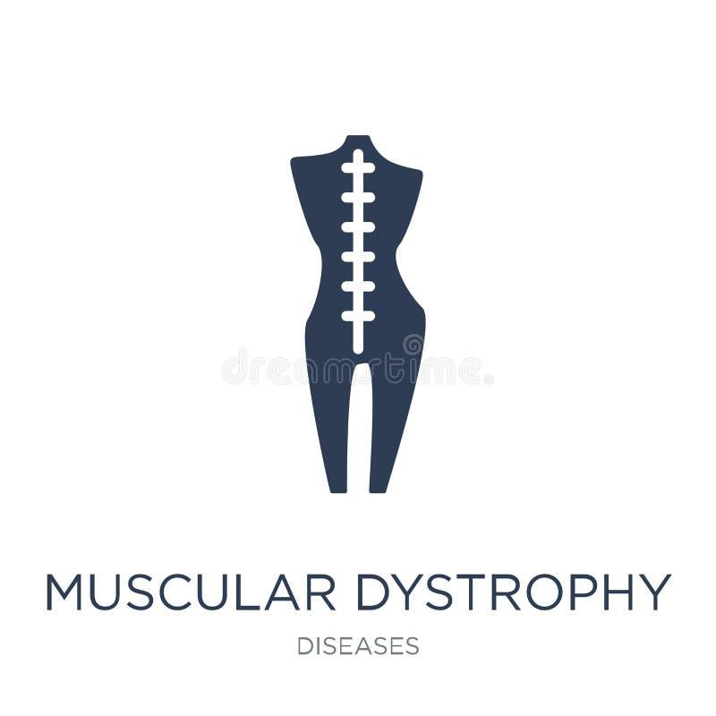 Mięśniowego dystrophy ikona Modny płaski wektorowy Mięśniowy dystrophy ja ilustracji