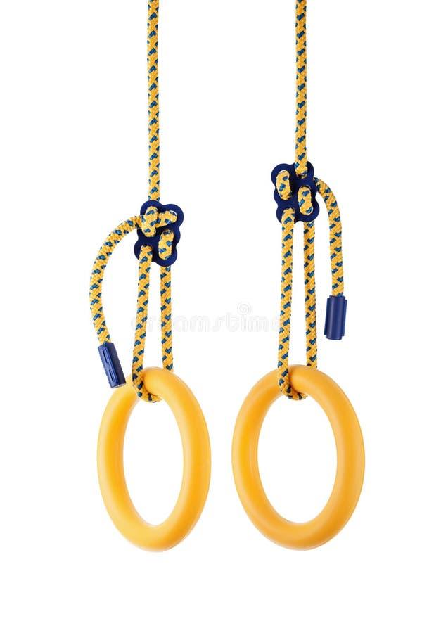 Gimnastyczni pierścionki obrazy stock