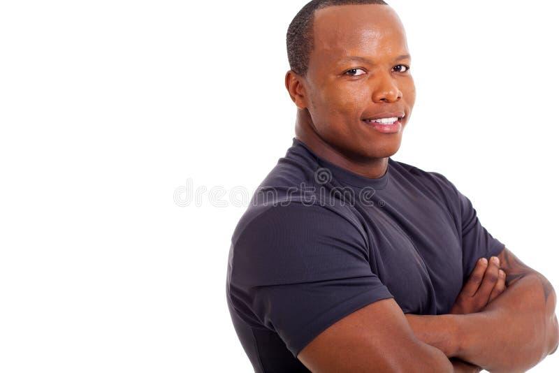 Mięśniowy afrykański mężczyzna zdjęcie stock