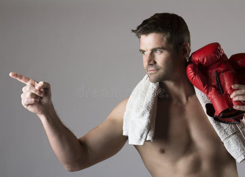 Mięśniowy caucasian mężczyzna fotografia stock