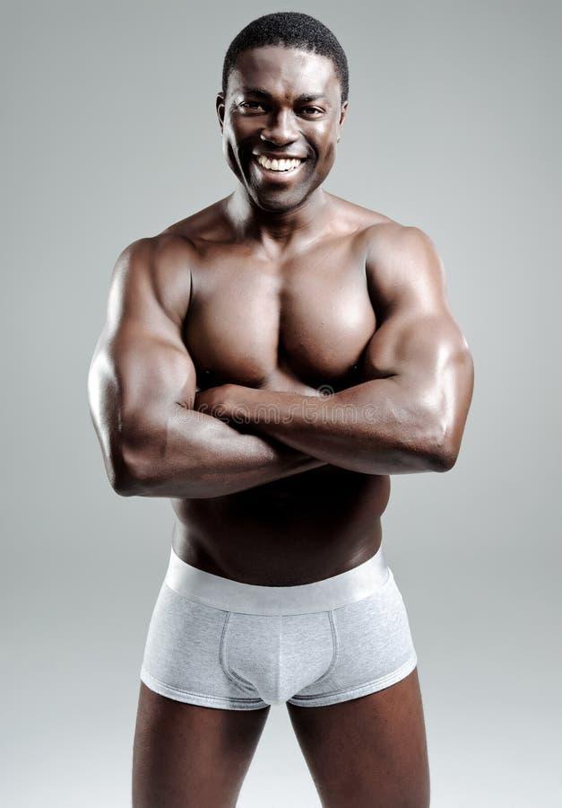 mięśniowy dobry przyglądający mężczyzna zdjęcia stock