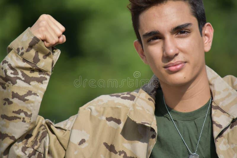 Mięśniowy Męski żołnierz zdjęcia stock