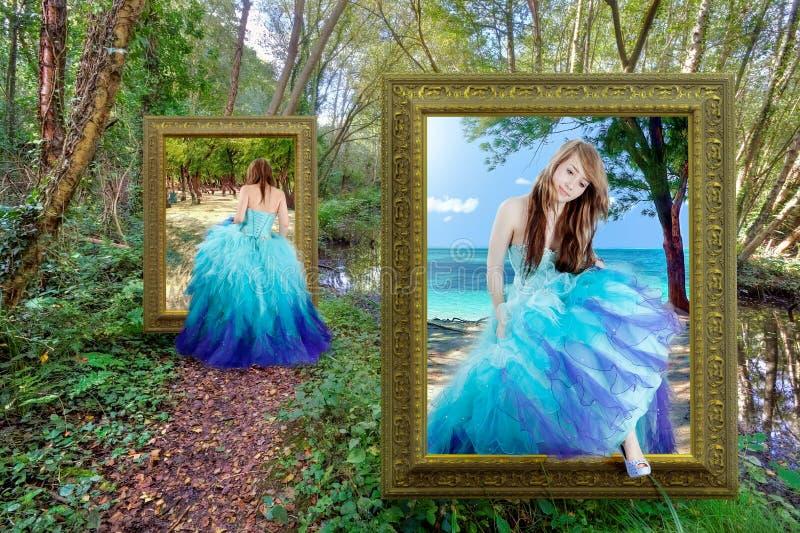 Między światami - fantazi bajka obrazy royalty free