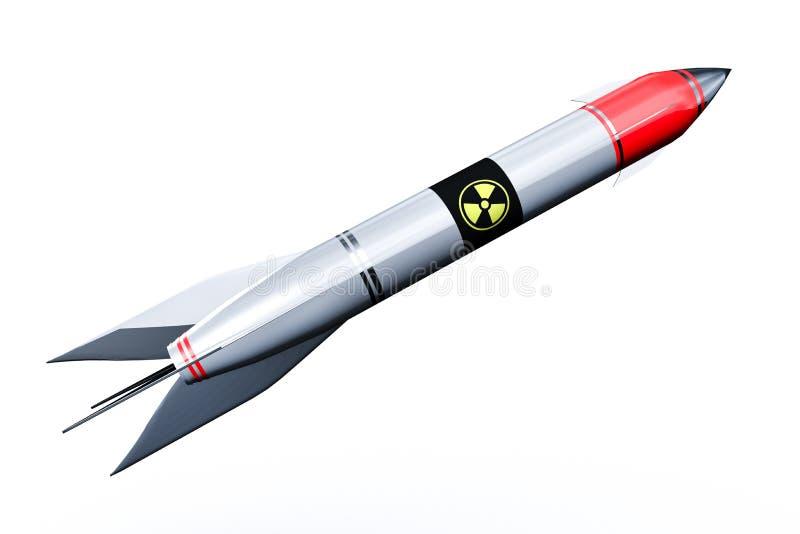 Międzykontynentalne jądrowe rakiet komarnicy up odizolowywać na białym tle royalty ilustracja