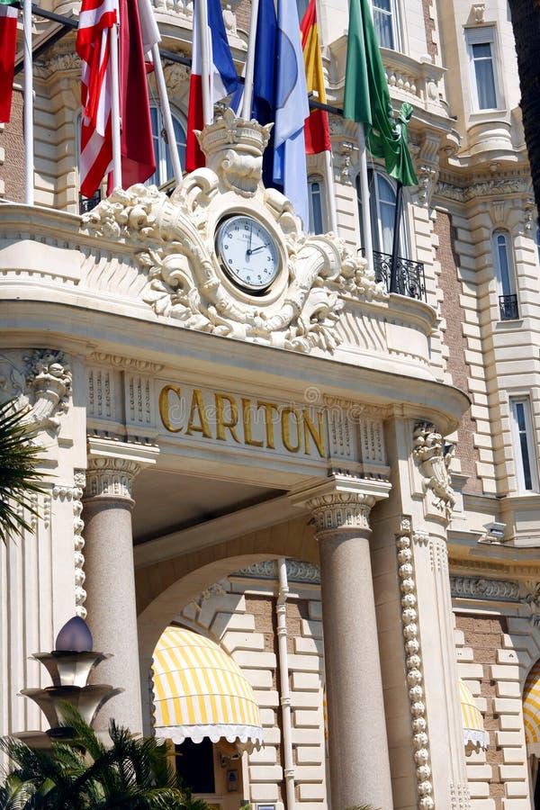 Międzykontynentalny Carlton Cannes jest luksusowym hotelem fotografia stock