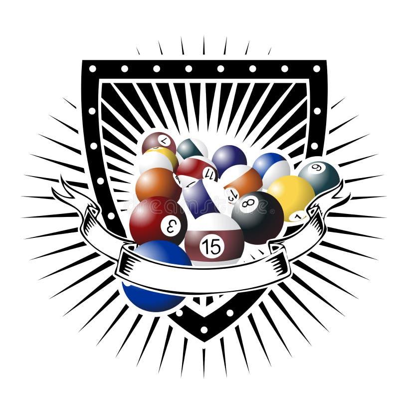 Międzynarodowa basen osłona royalty ilustracja
