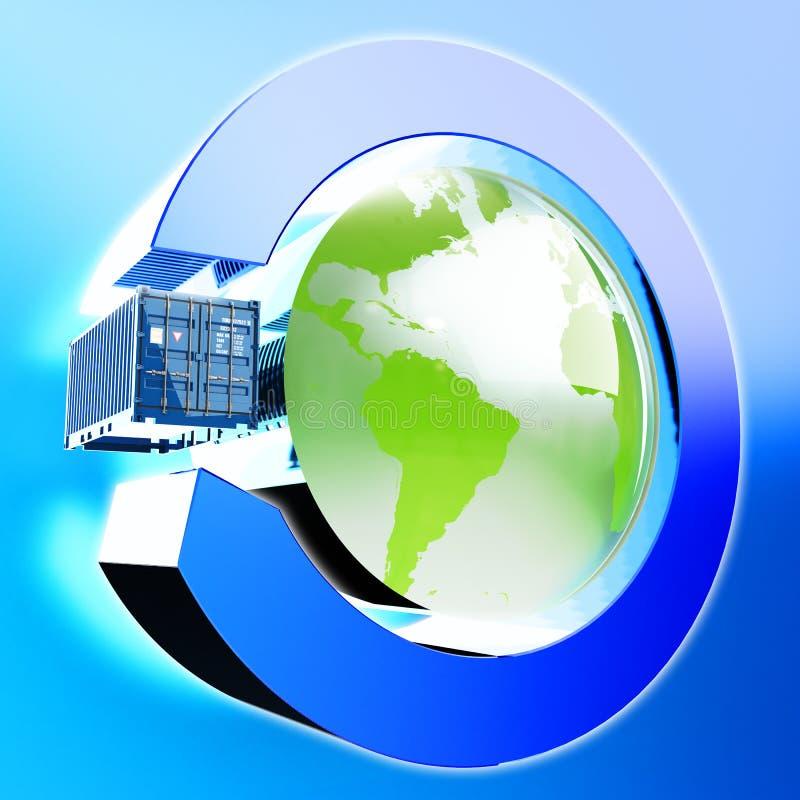 Międzynarodowa dostawa ładunek ikona ilustracja wektor