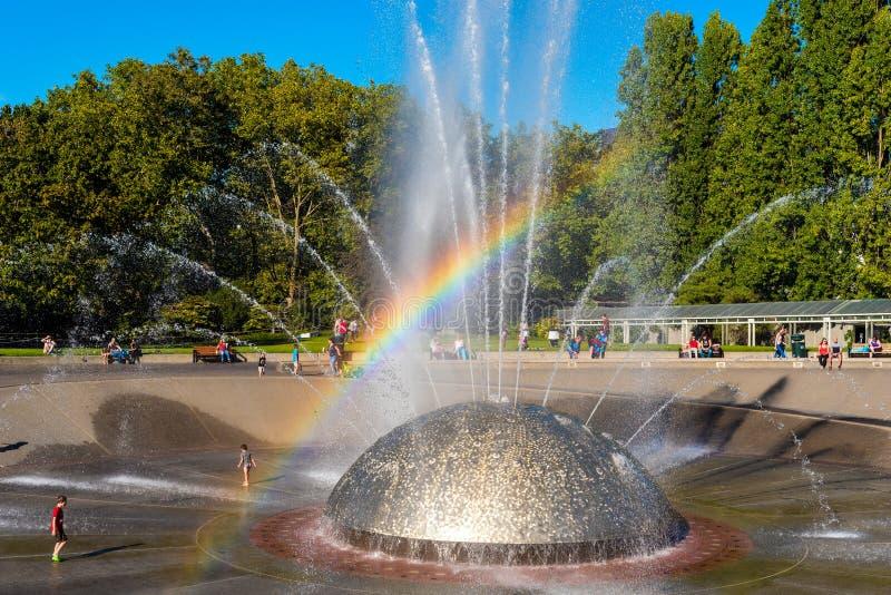 Międzynarodowa fontanna obraz royalty free
