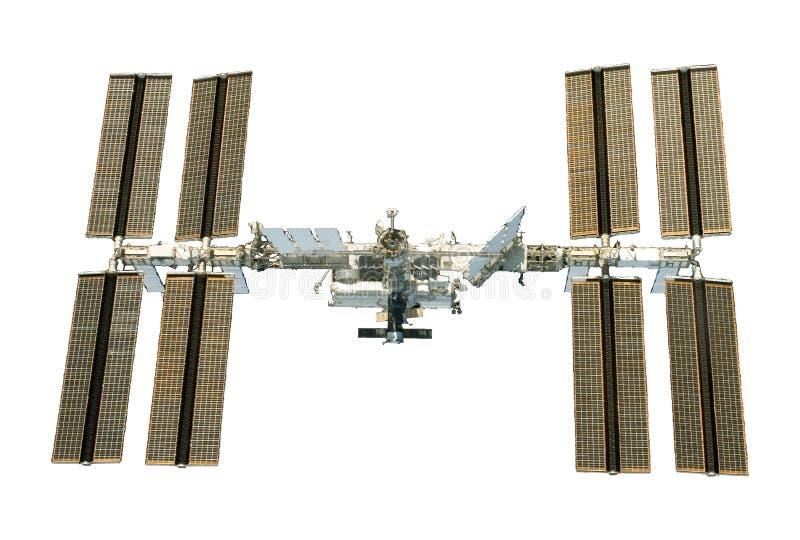 Międzynarodowa Stacja Kosmiczna ISS rozwijał, spod spodu, odizolowywa Elementy ten wizerunek meblowali NASA obrazy royalty free