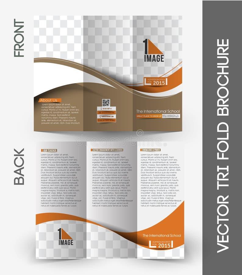 Międzynarodowa Szkolna trifold broszurka royalty ilustracja