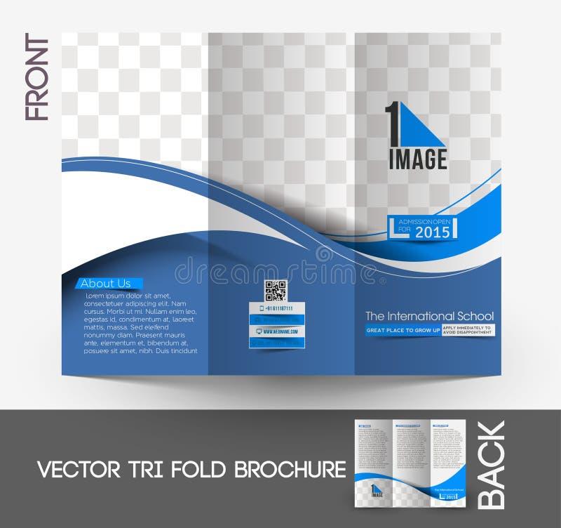 Międzynarodowa Szkolna trifold broszurka ilustracji