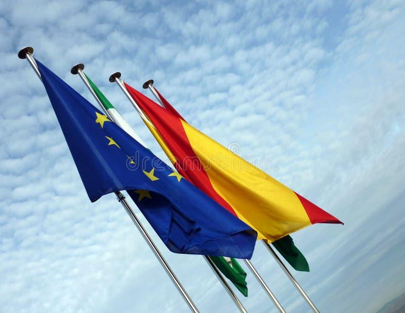 Międzynarodowe flaga obraz royalty free