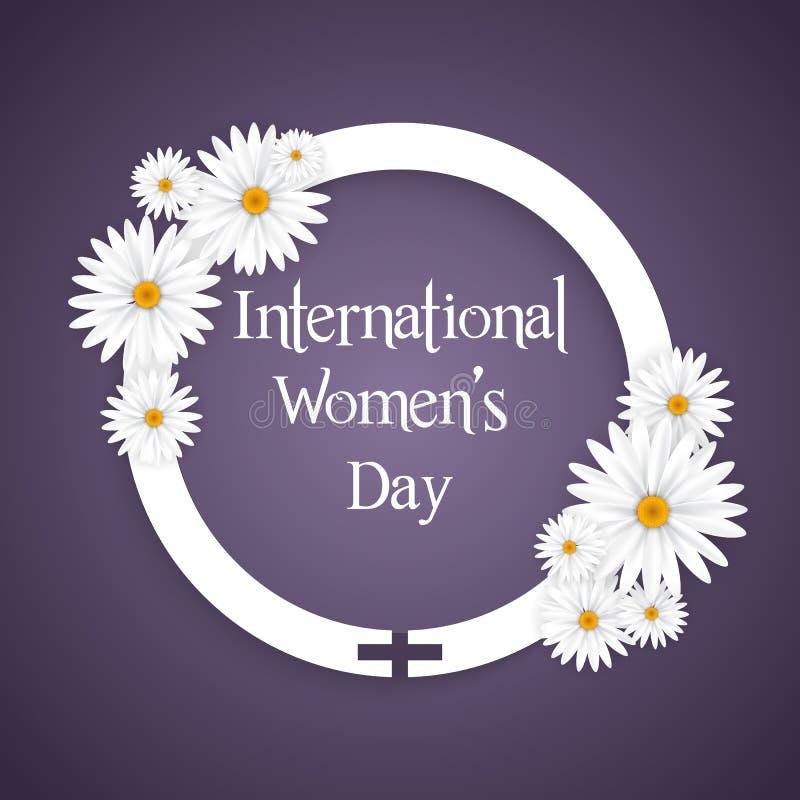 Międzynarodowego kobieta dnia kwiecisty tło royalty ilustracja