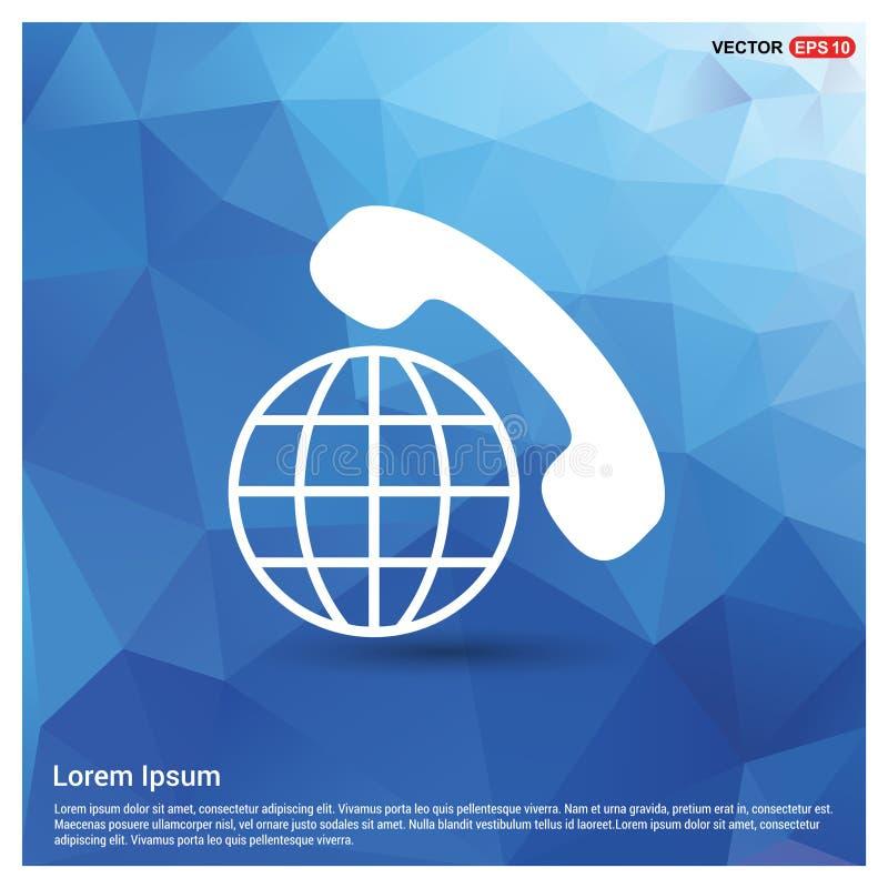 Międzynarodowego wezwania ikona ilustracji