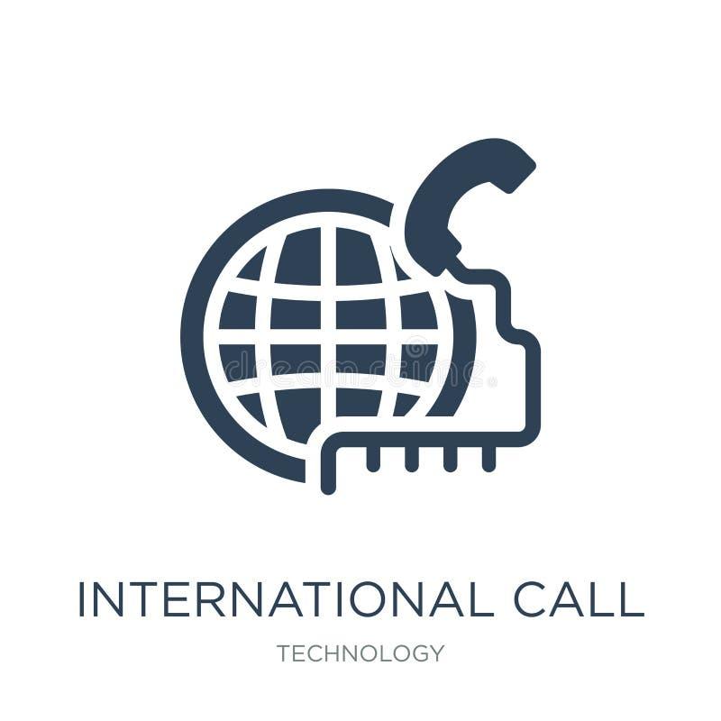 międzynarodowego wezwania ikona w modnym projekta stylu międzynarodowego wezwania ikona odizolowywająca na białym tle międzynarod ilustracja wektor