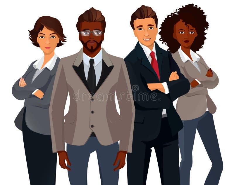 Międzynarodowi ludzie biznesu grup obrazy royalty free