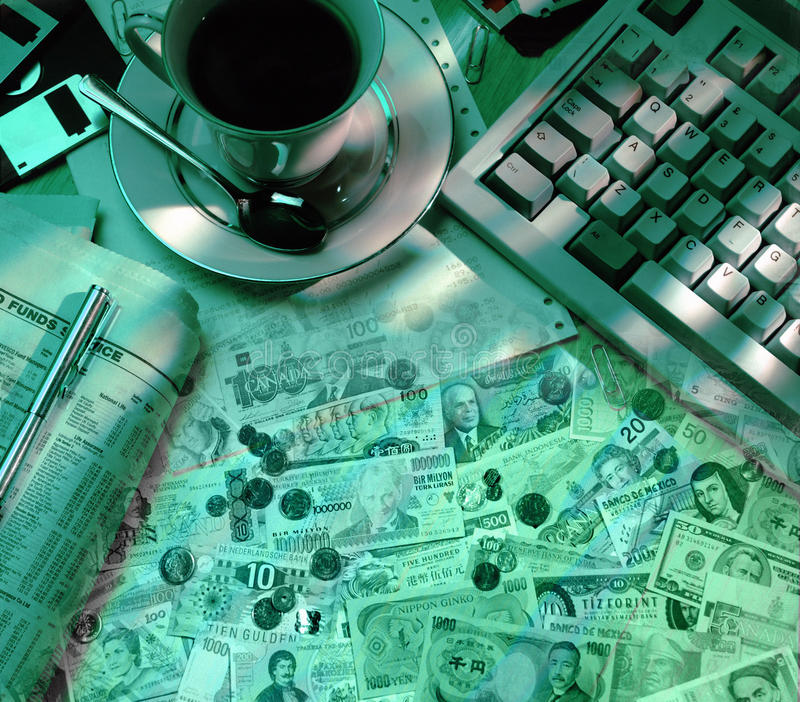 Międzynarodowi rynki walutowi - finanse obrazy royalty free