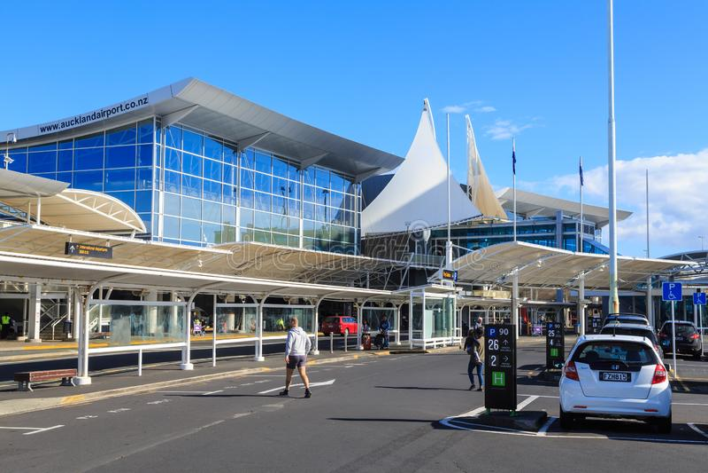 Mi?dzynarodowy ?miertelnie, Auckland lotnisko, Nowa Zelandia fotografia stock