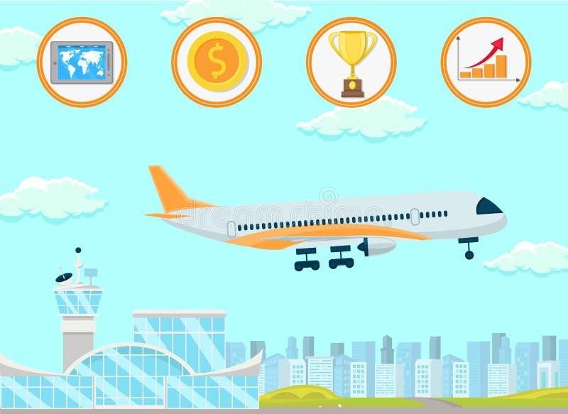 Międzynarodowy biznes Wektorowa płaska ilustracja ilustracja wektor