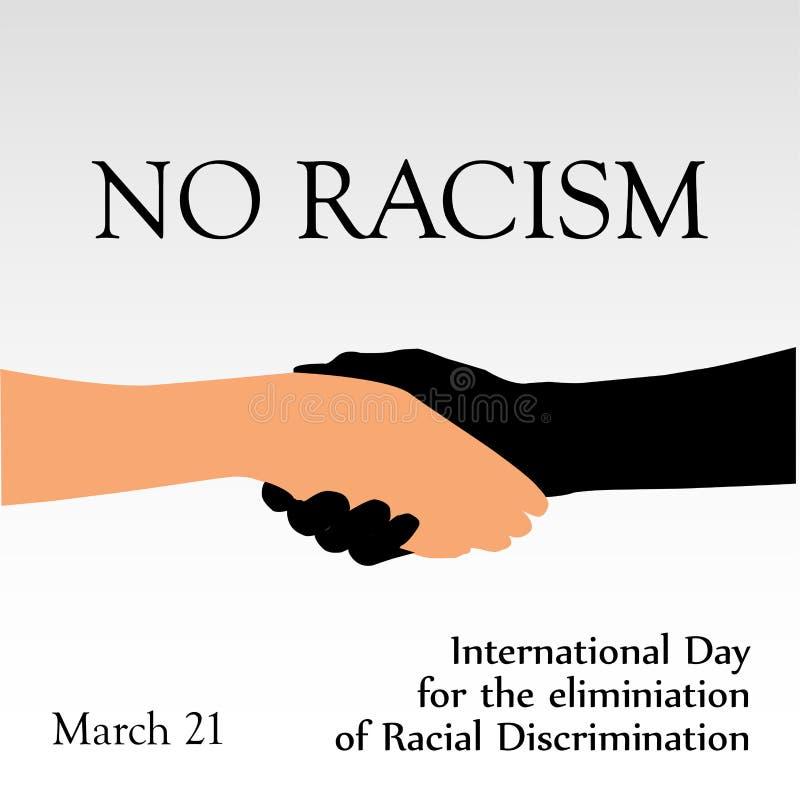 Międzynarodowy dzień dla eliminaci rasizm Marzec 21 royalty ilustracja