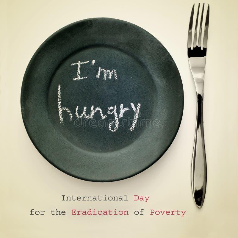 Międzynarodowy dzień dla eliminaci ubóstwo obrazy royalty free