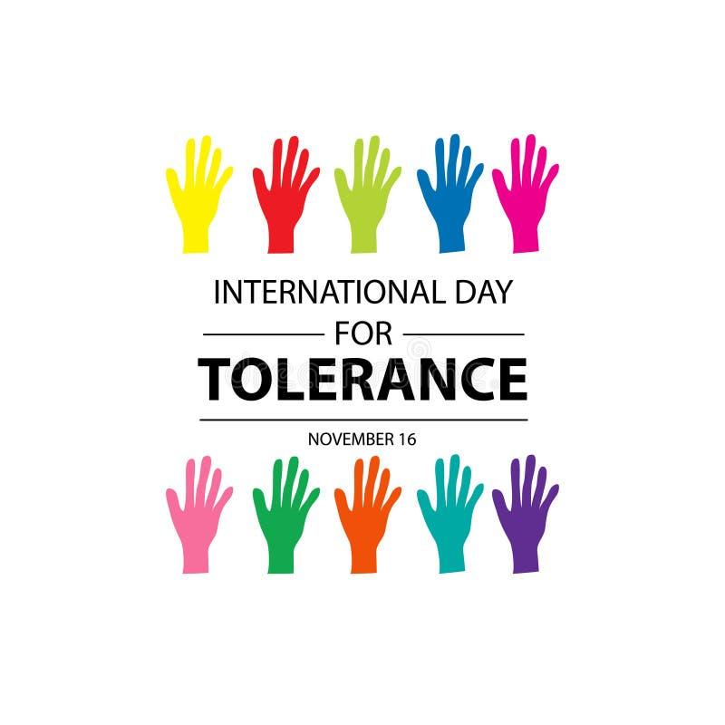 Międzynarodowy dzień dla toleranci ilustracji