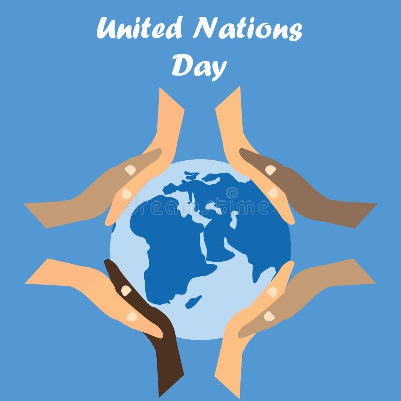 Międzynarodowy dzień Narody Zjednoczone tło royalty ilustracja
