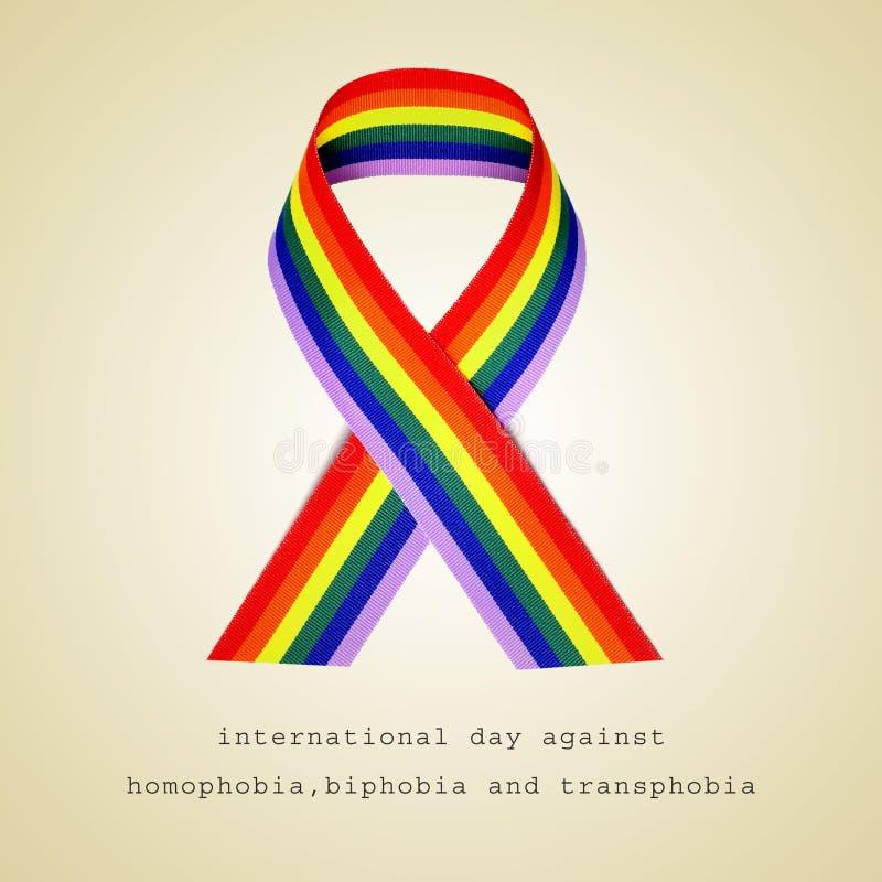 Międzynarodowy dzień przeciw homofobiemu, biphobia i transphobia, obraz stock