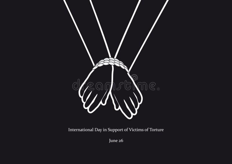 Międzynarodowy dzień w poparciu dla ofiary tortura wektor royalty ilustracja