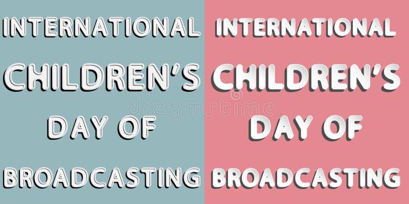 Międzynarodowy dziecka ` s dzień transmitowanie royalty ilustracja
