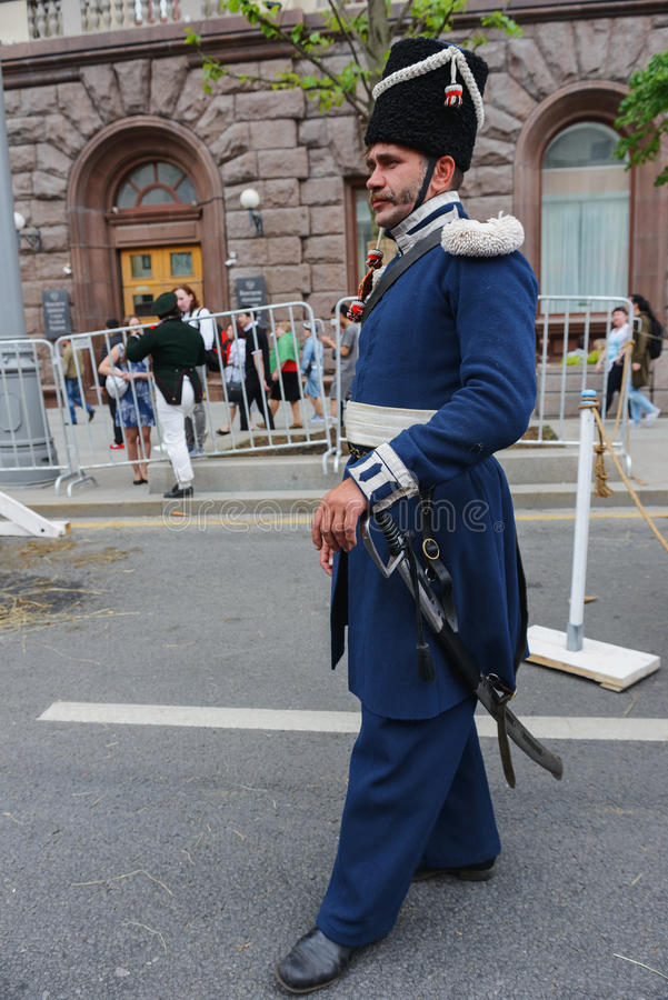 Międzynarodowy festiwal: strażnika Ural kozaczek obrazy stock
