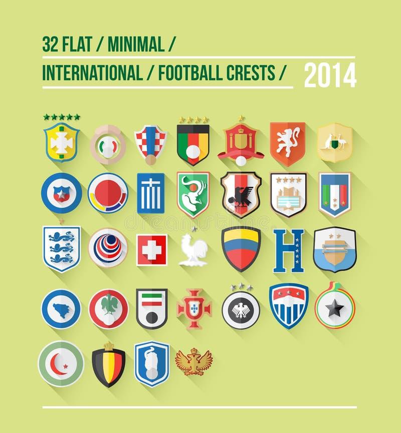 Międzynarodowy futbolowy grzebień dla 2014 royalty ilustracja