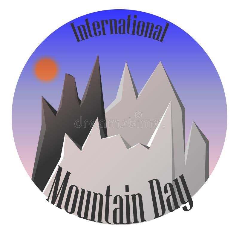 Międzynarodowy Halny dnia krajobraz z górami wektorowymi zdjęcia royalty free